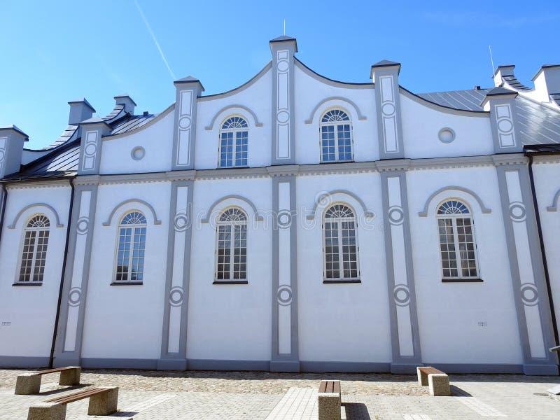Vecchia bella sinagoga degli ebrei lithuania immagine stock