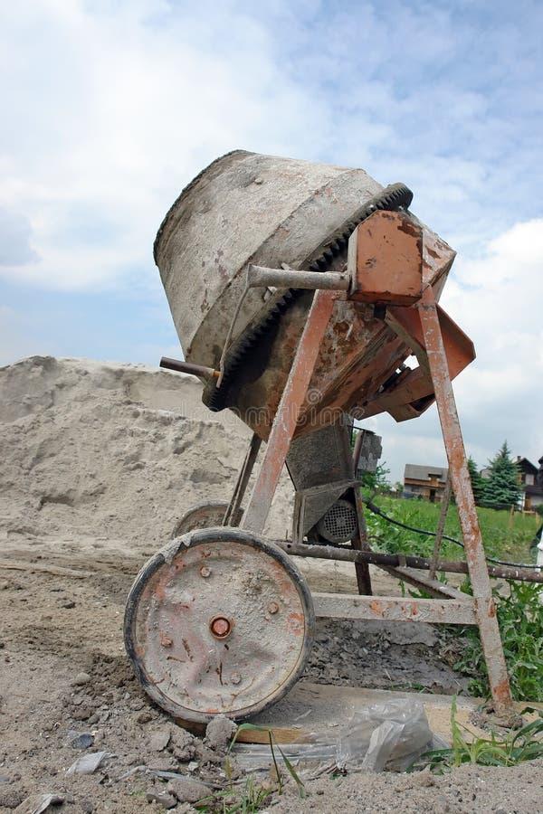 Vecchia betoniera fotografia stock libera da diritti