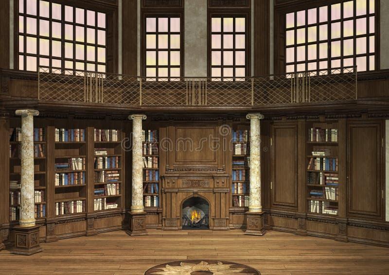 Vecchia biblioteca fotografia stock libera da diritti