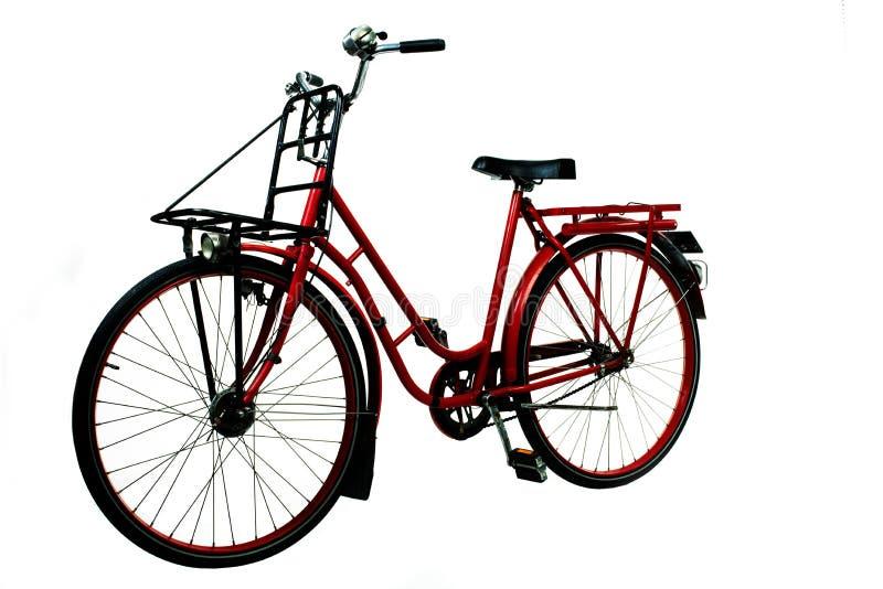 Vecchia bicicletta rossa immagini stock libere da diritti