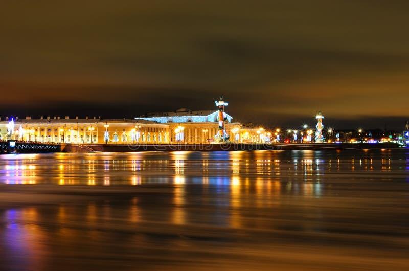 Vecchia borsa valori di St Petersburg immagine stock libera da diritti