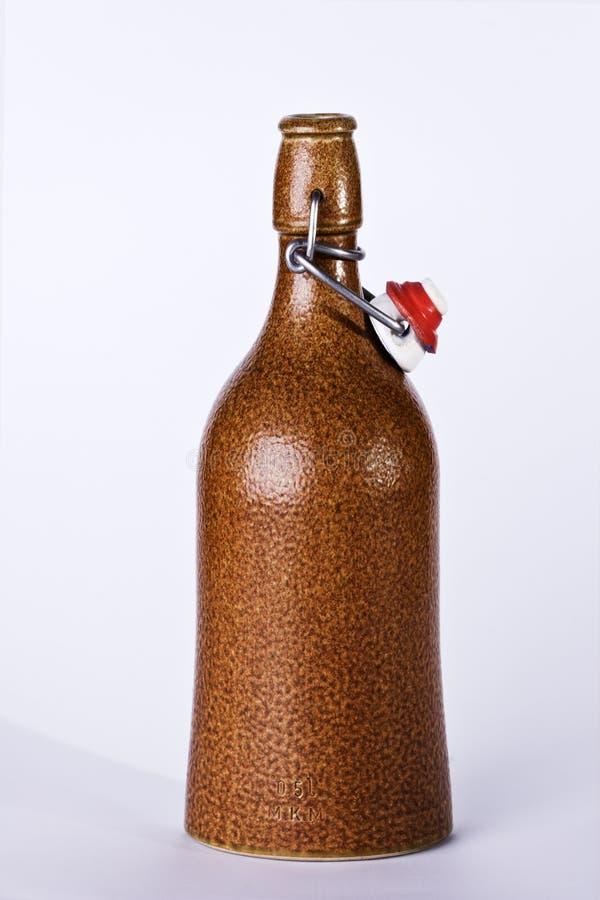 Vecchia bottiglia del rum immagini stock libere da diritti