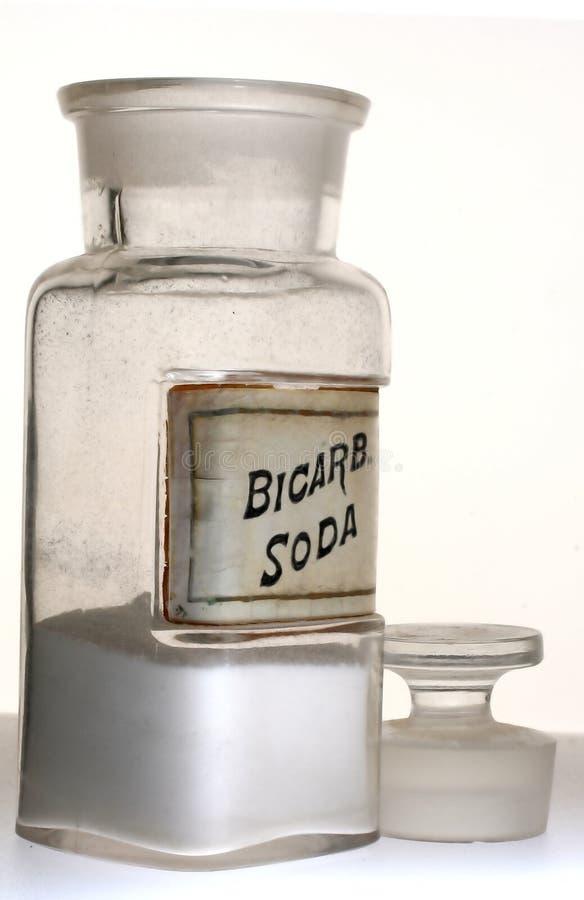 Vecchia bottiglia della farmacia fotografia stock libera da diritti