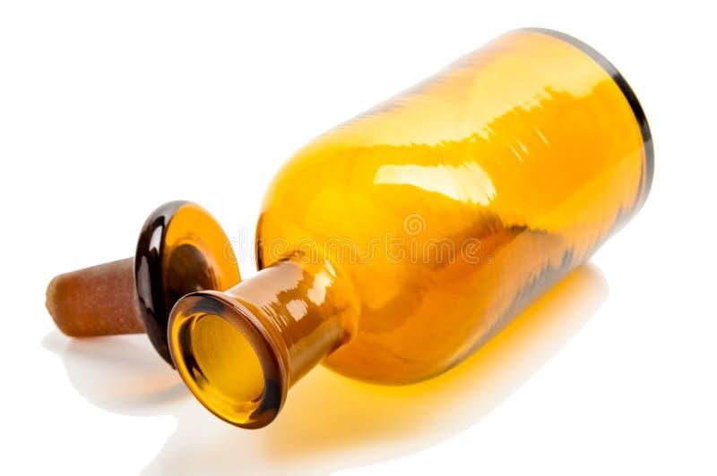 Vecchia bottiglia della farmacia immagine stock libera da diritti