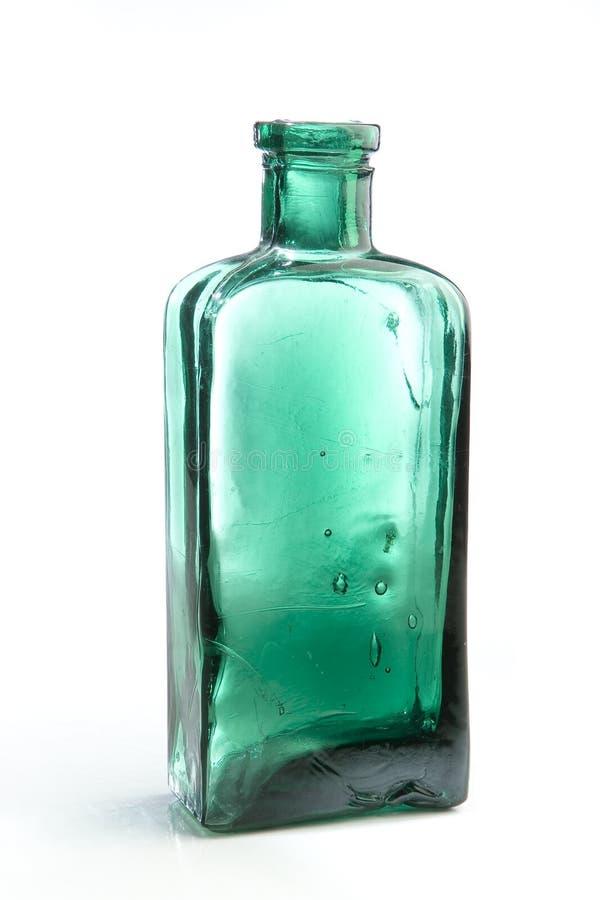 Vecchia bottiglia della medicina fotografie stock