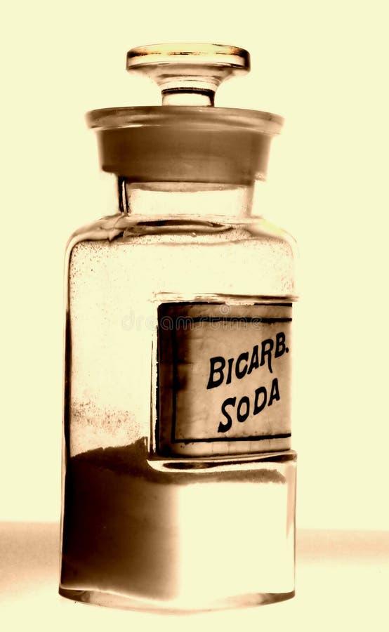 Vecchia bottiglia della medicina della memoria di droga immagini stock libere da diritti