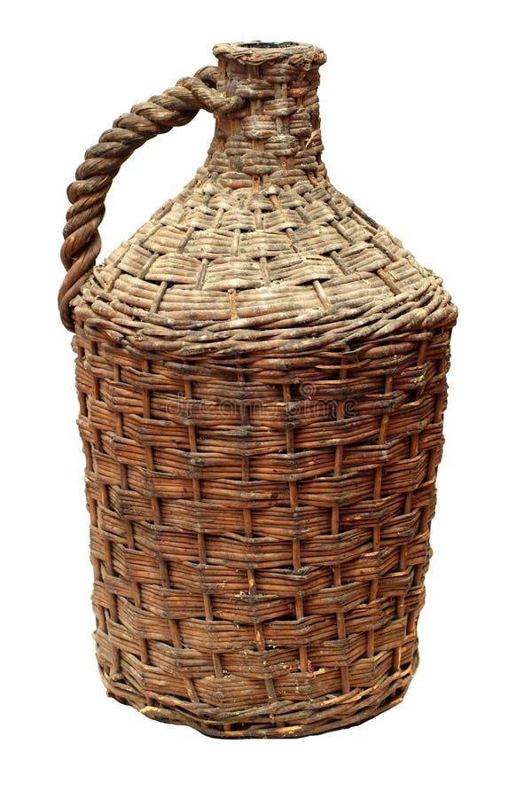 Vecchia bottiglia di vino tradizionale immagini stock