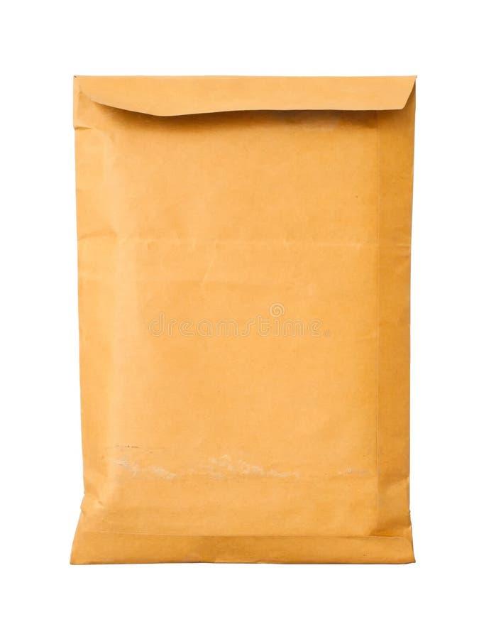 Vecchia busta marrone vicina del documento fotografia stock