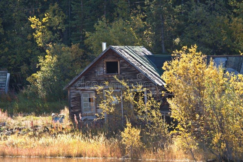 Vecchia cabina dei minatori, Carcross immagini stock