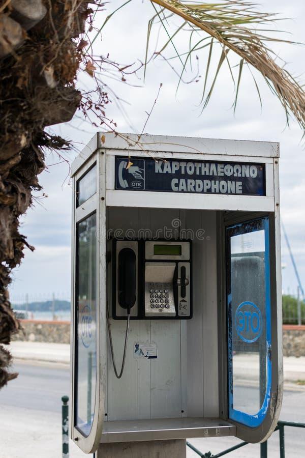 Vecchia cabina di telefono immagini stock libere da diritti
