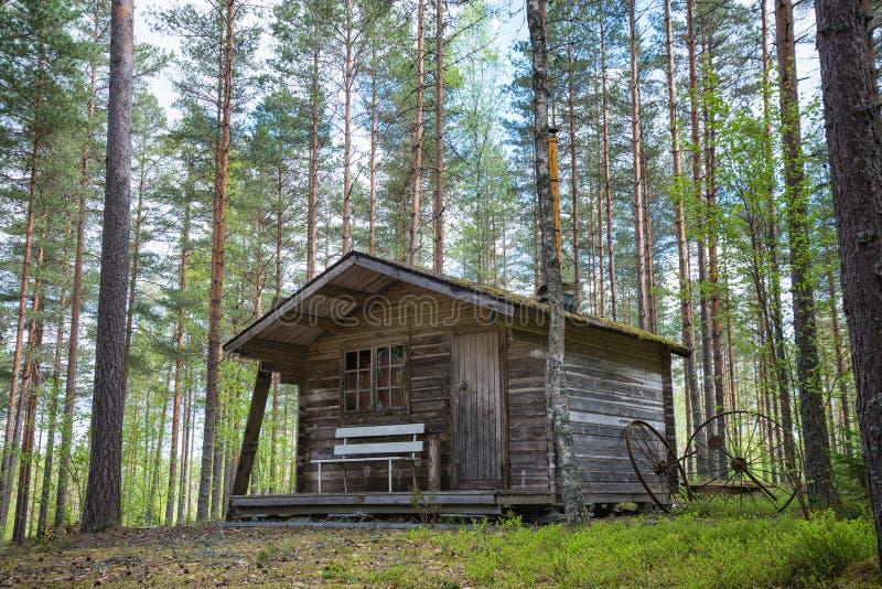 Vecchia cabina nel legno immagine stock libera da diritti