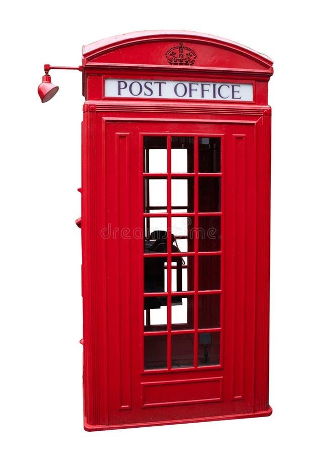 Vecchia cabina telefonica immagini stock