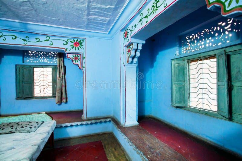 Vecchia camera da letto delle pareti in uno stile indiano for Piani di casa in stile artigiano nord ovest