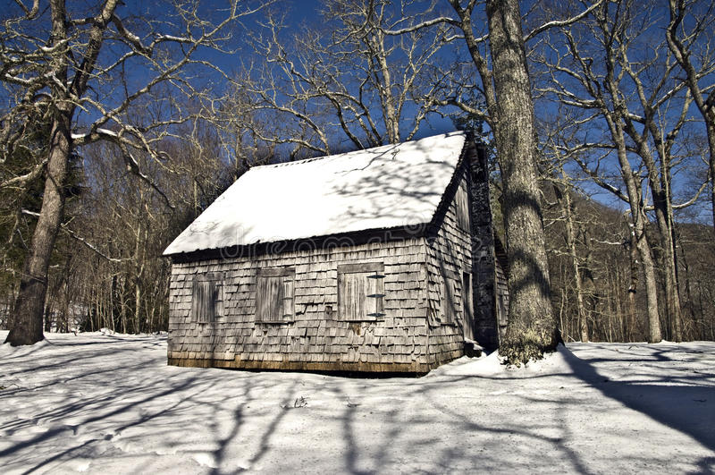 Vecchia Camera in inverno fotografia stock