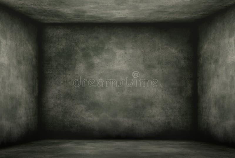 Vecchia camera oscura Moldy royalty illustrazione gratis