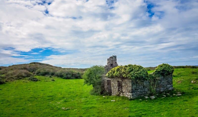 Vecchia Camera rurale abbandonata fotografia stock