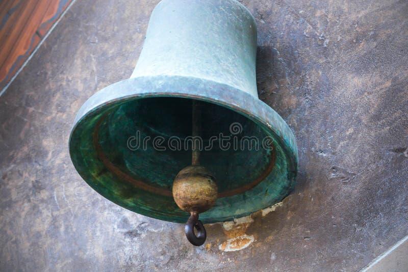 Vecchia campana della nave immagine stock