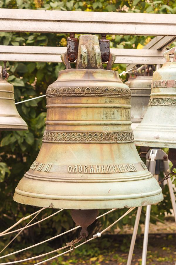 Vecchia campana di chiesa yaroslavl Federazione Russa 2017 fotografia stock libera da diritti