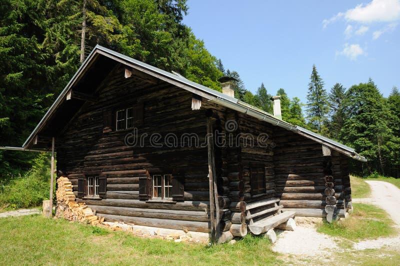 Vecchia capanna di legno fotografia stock libera da diritti