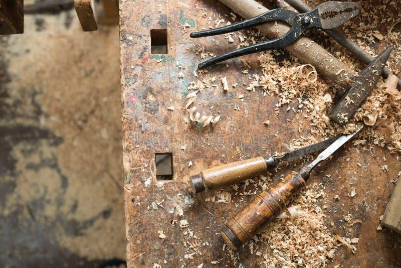 Vecchia carpenteria immagine stock