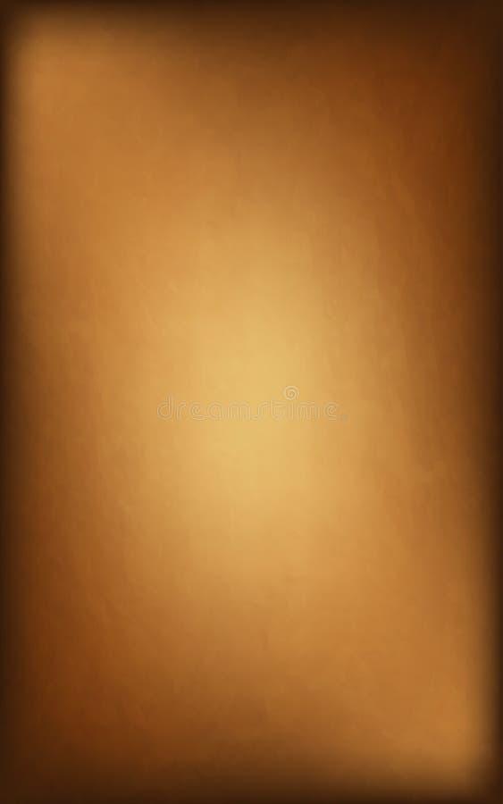 Vecchia carta di bella struttura Fondo dell'oro grunge illustrazione vettoriale