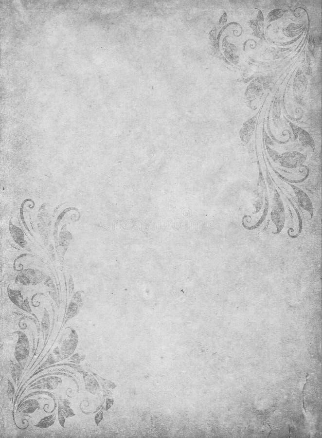 Vecchia carta di lerciume con stile vittoriano d'annata fotografia stock libera da diritti