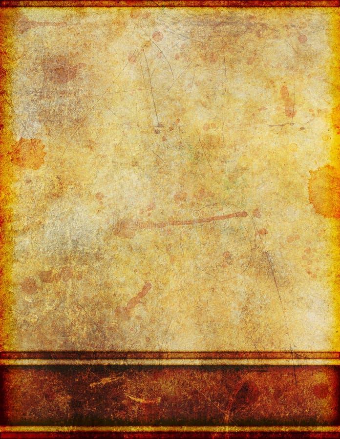 Vecchia carta pergamena macchiata sporca antica illustrazione vettoriale