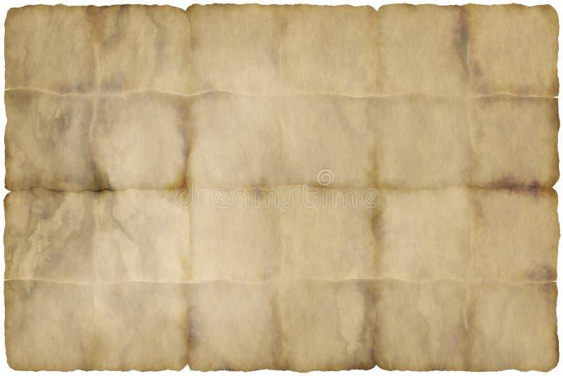 Vecchia carta pergamena portata illustrazione vettoriale
