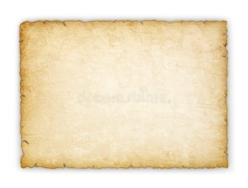 Vecchia carta sporca isolata illustrazione di stock