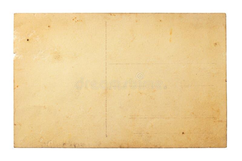 Vecchia cartolina fotografie stock