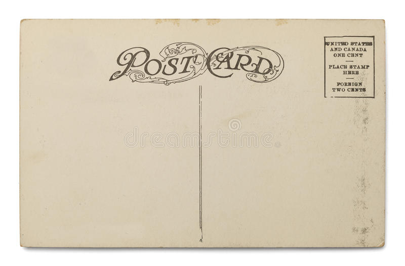 Vecchia cartolina immagini stock libere da diritti