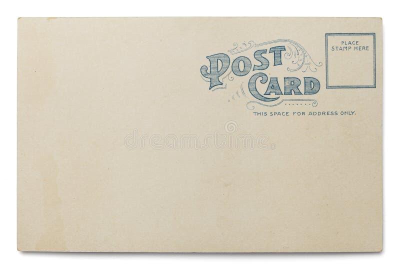 Vecchia cartolina in bianco immagini stock
