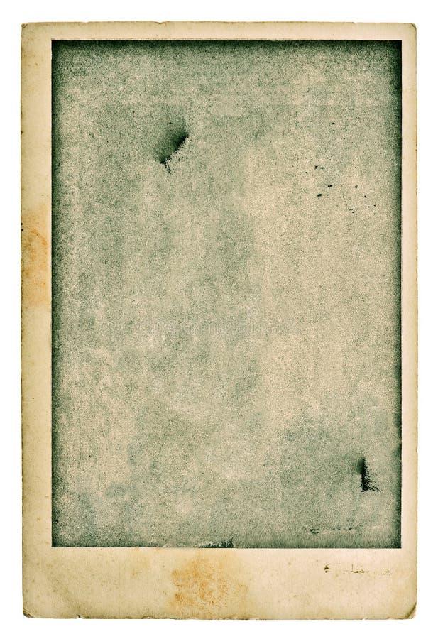Vecchia cartolina in bianco della foto Struttura di carta usata lerciume d'annata ins fotografia stock