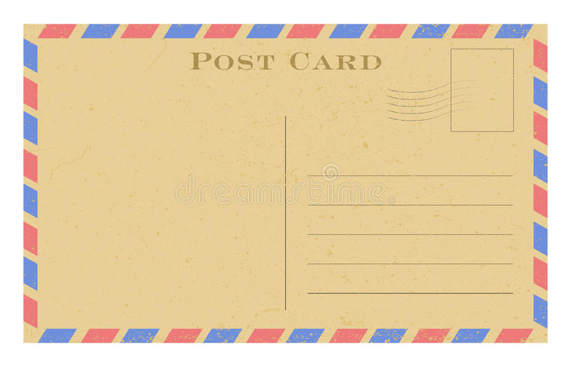 Vecchia cartolina Cartolina d'annata di carta di lerciume con la struttura Illustrazione di vettore royalty illustrazione gratis