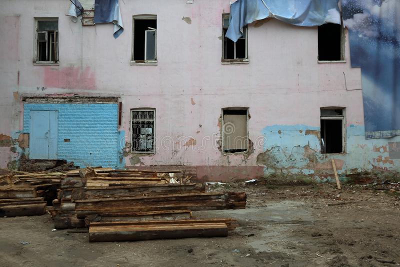 Vecchia casa abbandonata immagini stock libere da diritti