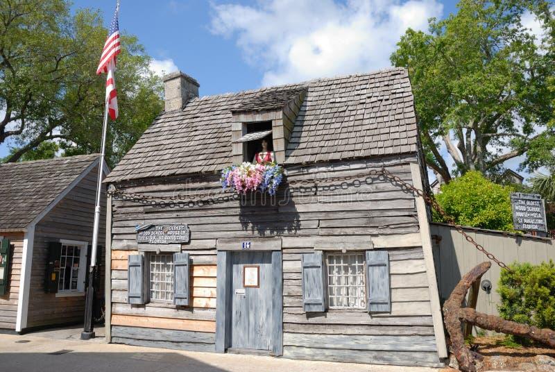 Vecchia casa americana del banco fotografia stock