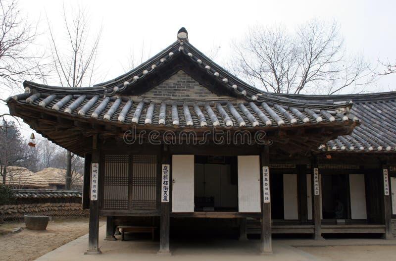 Vecchia casa coreana fotografia stock