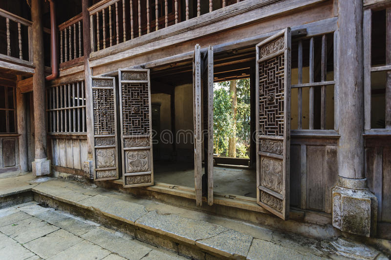 Vecchia casa del Vietnam fotografie stock