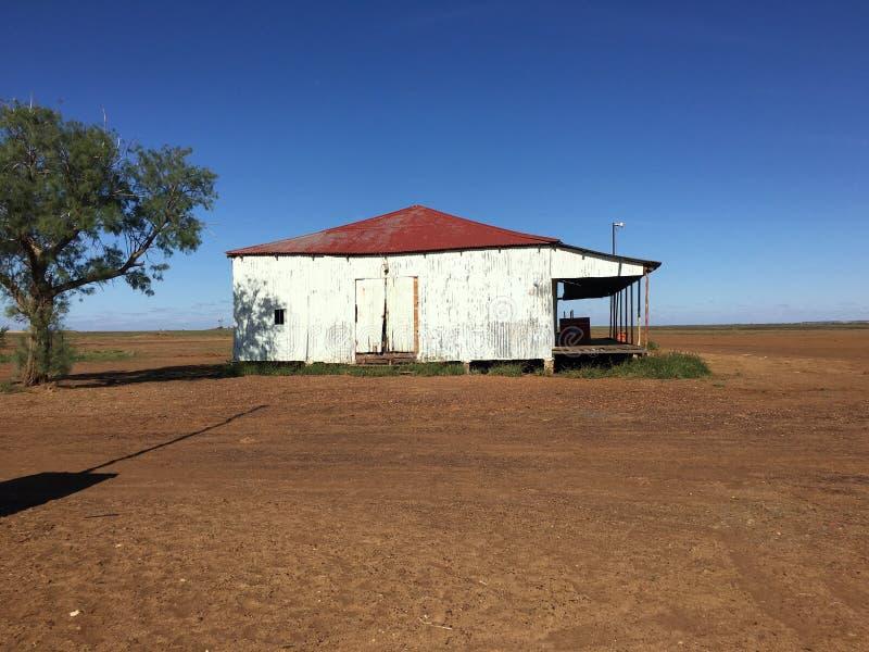 Vecchia casa dell'azienda agricola a Middleton nell'entroterra Queensland, Australia fotografia stock