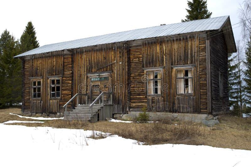 Vecchia casa desolata immagine stock