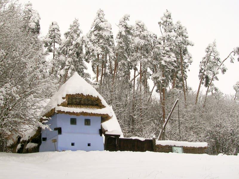 Vecchia casa di campagna in museo all'aperto a Sibiu immagini stock