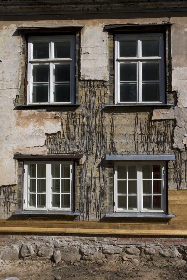 Vecchia casa di rinnovamento immagini stock libere da diritti
