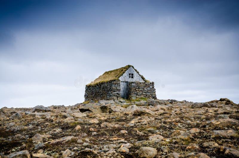 Vecchia casa islandese fotografie stock