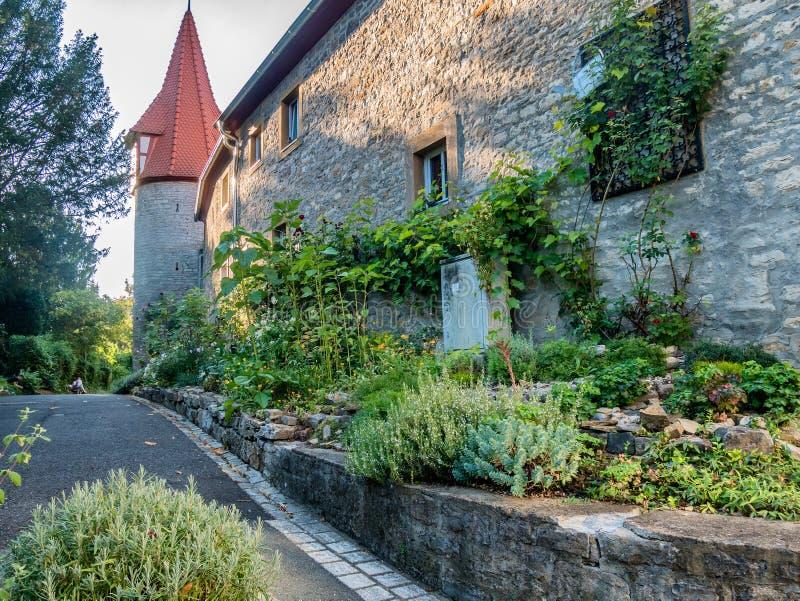 Vecchia casa in Marktbreit, Germania fotografia stock