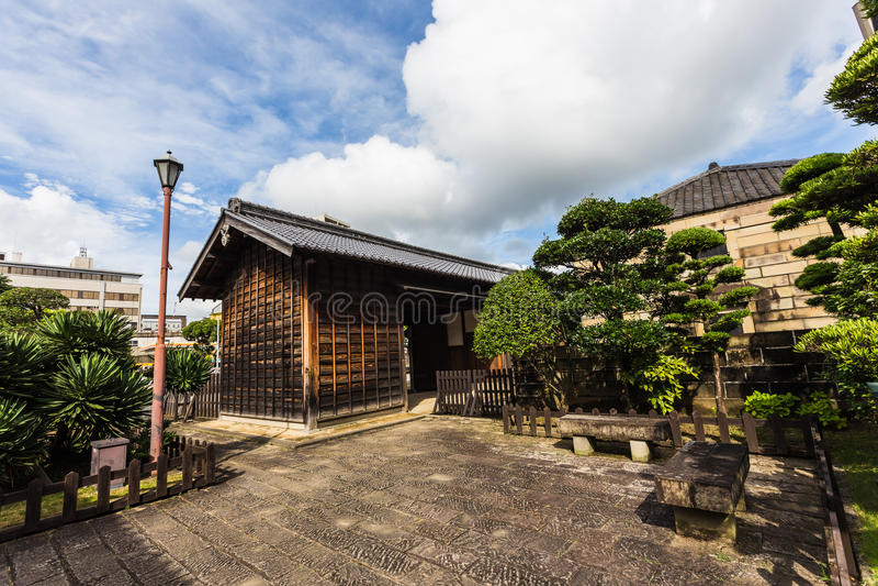 Vecchia casa nell'isola di Dejima a Nagasaki, Giappone immagini stock