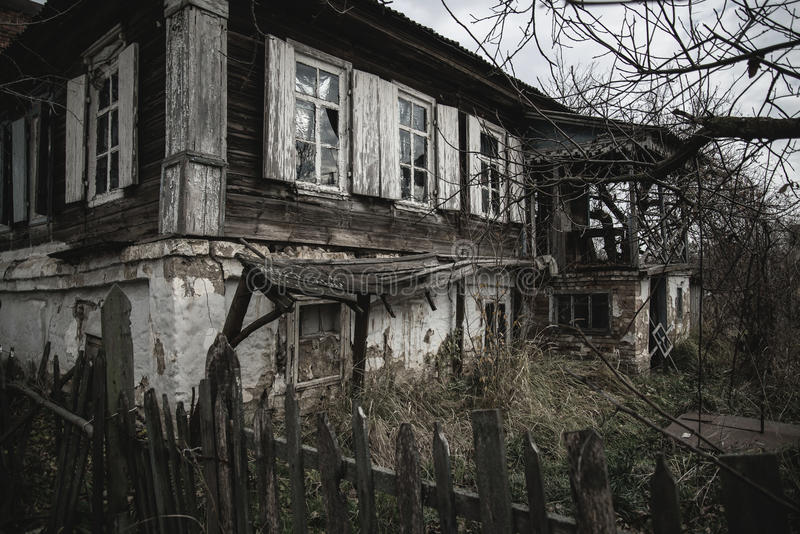 Vecchia casa in Starocherkask immagini stock libere da diritti