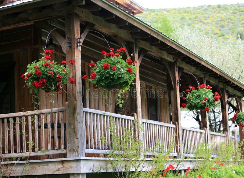 Vecchia casa sul ranch fotografia stock libera da diritti
