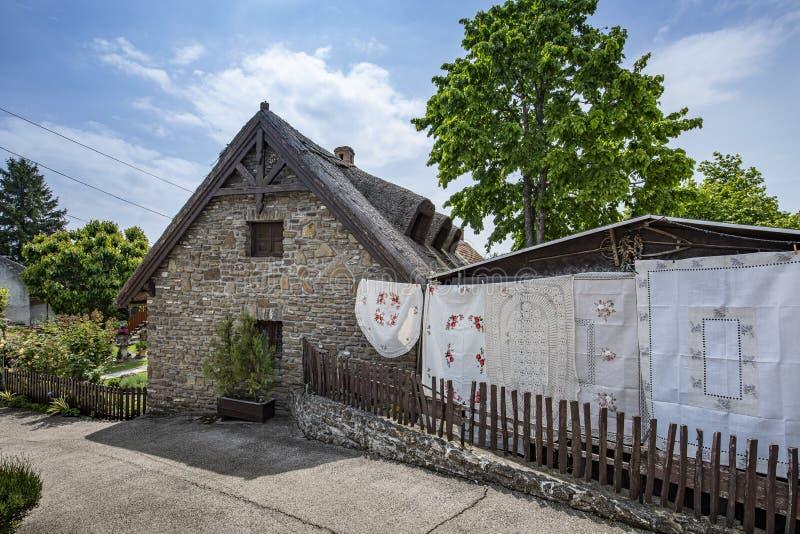 Vecchia casa in Tihany fotografia stock libera da diritti