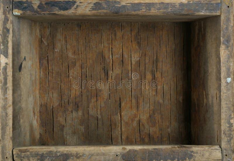 Vecchia casella di legno fotografie stock