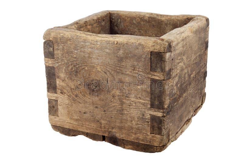 Vecchia casella di legno vuota immagine stock